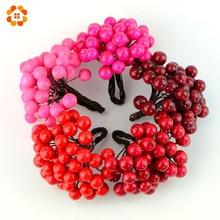 20pcs lot Artificial Berries Stamen Bouquet DIY Floral Flowers for Party Wedding Wreath Dorsage Decoration Crafts