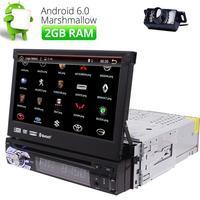 7 Android 6 0 Single 1 Din Car Radio Stereo GPS OBD2 3G DAB Bluetooth CAMERA