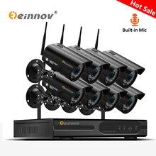 Einnov 8CH Ev Kablosuz Güvenlik Kamera 1080 P HD CCTV 2MP Açık NVR Wifi Video Gözetim Kamera Ses Sistemi IP kamera