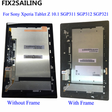 Full LCD Display Monitor Touch Screen Panel Digitizer Sensor Glass Frame For Sony Xperia Tablet Z 10.1 SGP311 SGP312 SGP321