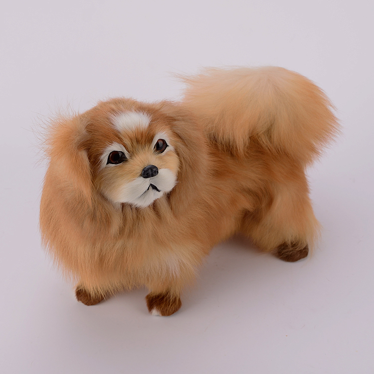 big simulation dog polyethylene & furs Pekingese dog model doll gift about 32x16x25cm 303 simulation shepherd dog polyethylene