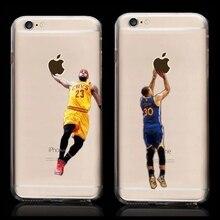 New Kobe Bryant Stephen Curry Basketball Stars Case for iPhone 6s Michael Jordan LeBron James Hard