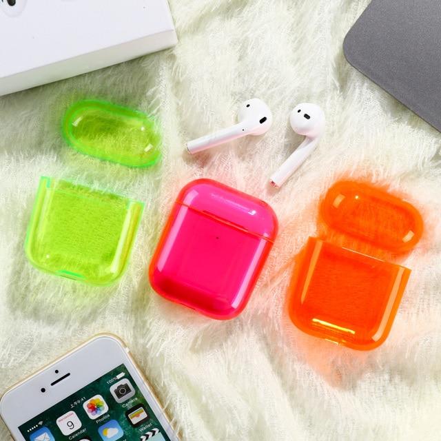 Voor Airpods Case Siliconen Snoep Kleur Transparant Fundas Voor Air Pods 2 Oortelefoon Cases Protector Voor Airpods Pro Soft Tpu cover