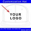 Personalizar logotipo viseira plana chapéu de basebol hip hop estilo costura considerável de volta tampão feito sob encomenda