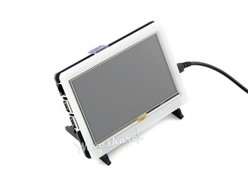 Bicolor Case for Raspberry Pi 5inch LCD combines 5inch HDMI LCD and Raspberry Pi into an All-in-one device