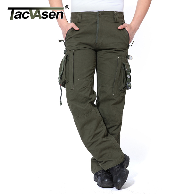 TACVASEN Tactical Pants Men Military Cargo Pants Mens Clothing Casual Combat Army Trousers Male Casual Pants TD-GZTM-001