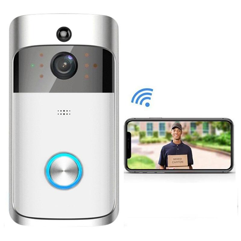 Smart Wireless Video Doorbell HD 720P Visible Doorbell WiFi Night Vision Phone Intercom Smart Home Smart Wireless Video Doorbell HD 720P Visible Doorbell WiFi Night Vision Phone Intercom Smart Home