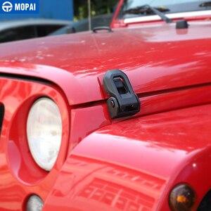 Image 2 - MOPAI Auto Blocco Motore per Jeep Wrangler 2007 Up Auto Hood Copertura Della Serratura di Cattura Proteggere per Jeep Wrangler JK accessori Per Lo Styling