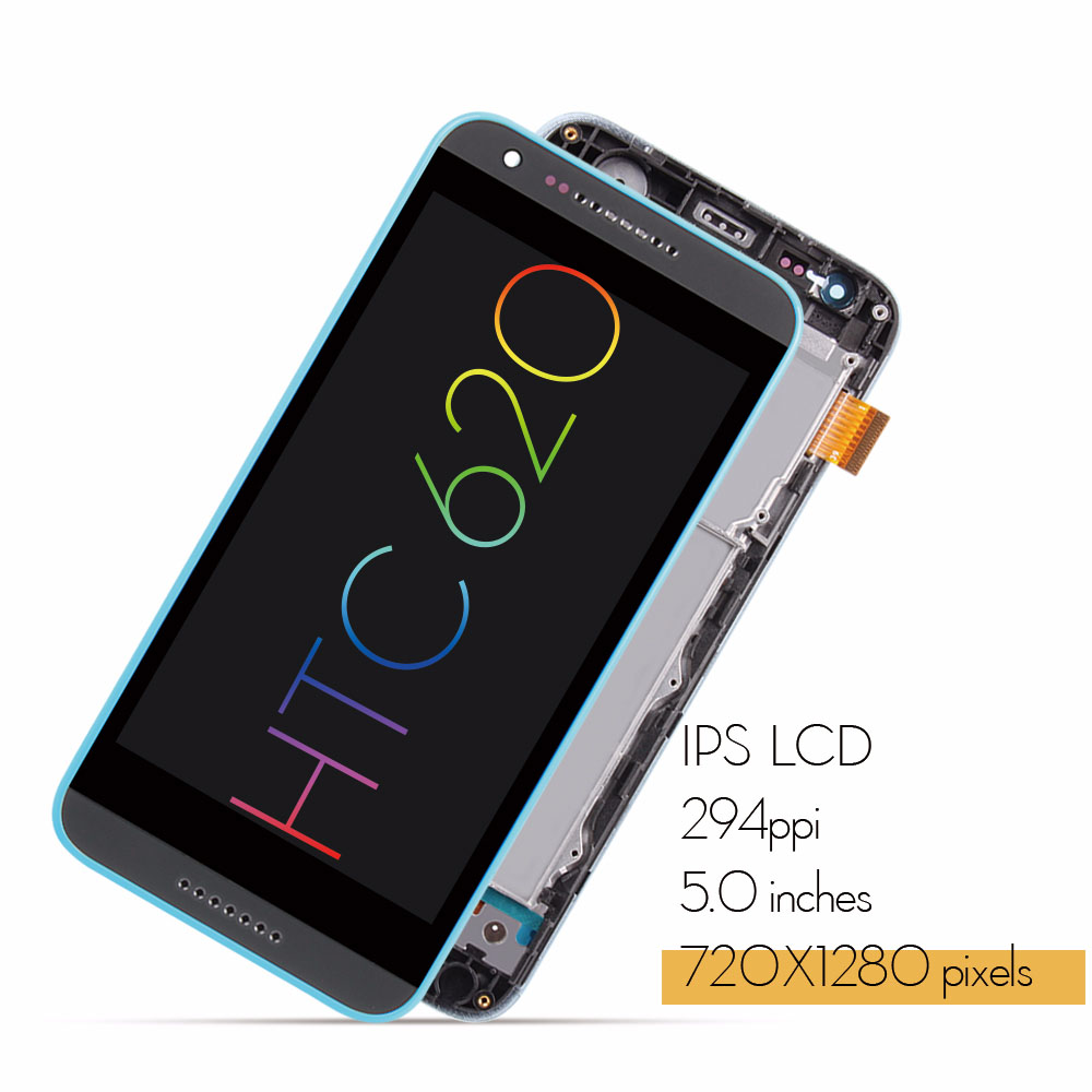 Original For HTC Desire 620G LCD Touch Screen with Frame For HTC Desire  620G Display Digitizer Replacement Parts 620 620U 620T