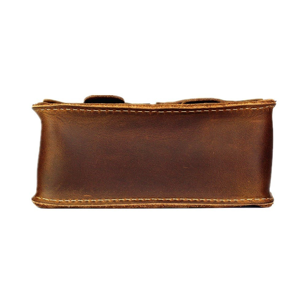 Image 4 - Moterm Genuine Leather Fanny Pack Waist Bag Belt Phone Pouch Bag  for Men Vintage Travel Waist Pack Male Small Waist BagWaist Packs   -