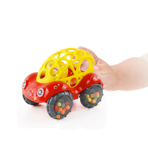 Image 3 - Mini Baby Car Doll zabawka do kołyski Grip Hand Catch Ball dla noworodka zabawka samochód inercyjne slajdów z kolorowa piłka Anti fall zabawka dla dzieci