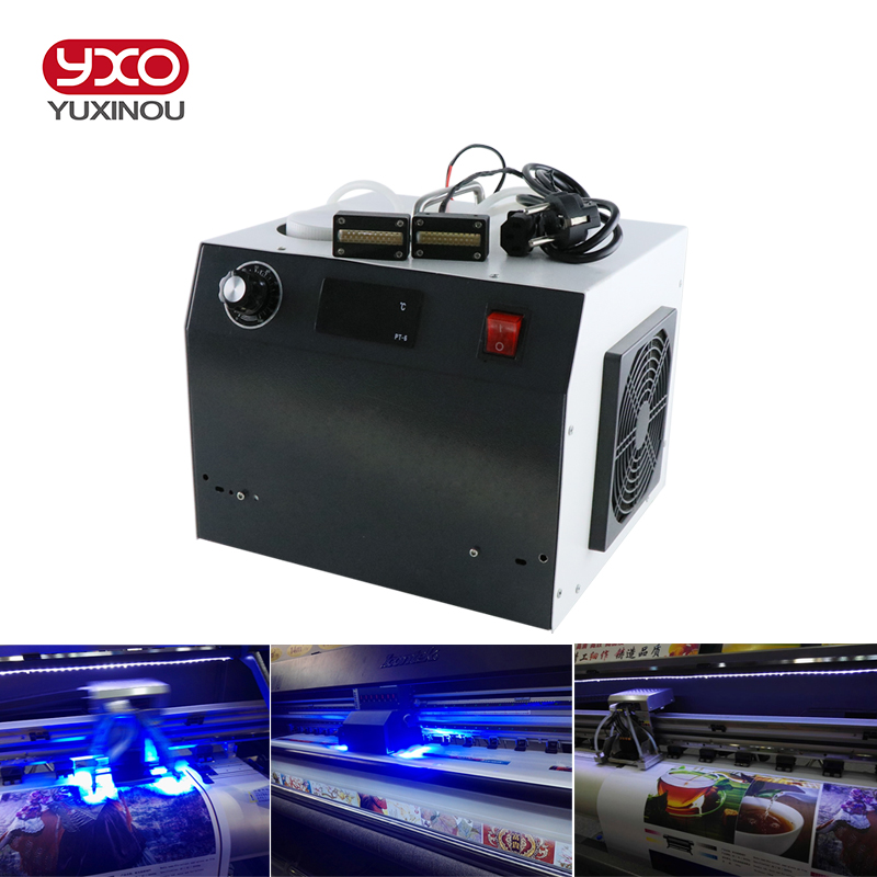 1pcs 160w 2 Head LED UV LED Curing System For Epson Printer DX5 Print UV Head UV Flatbed Printer,UV Glue Curing ink filtering damper with pipeline for epson r330 r290 t50 l800 uv flatbed printer