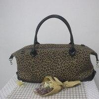 Venta al por mayor blanks guepardo leopardo fin duffle bolsa de viaje grande overnight Tote DOM103682