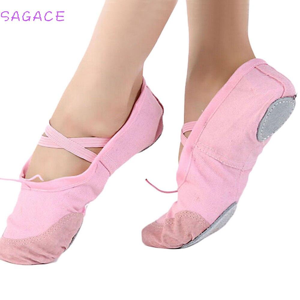 SAGACE 2018 Aqua Shoes Adult Canvas Ballet Dance Shoes Slippers Pointe Gymnastics Girls Canvas Ballet Dance Shoes dora the explorer little girls ballet dance pajama set