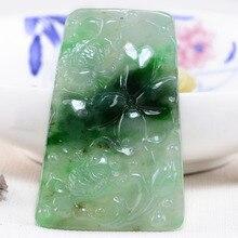 Colares pingentes jewelry prom diy jade necklaces & pendants Superior fish Emerald 4062 . Ciondolo chiave antica