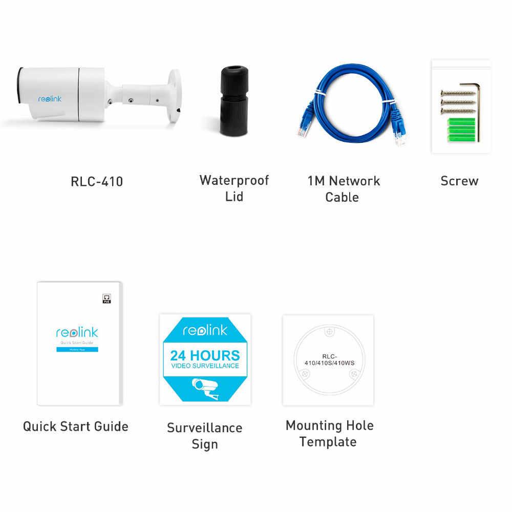Reolink PoE IP 4MP Ngoài Trời Âm Thanh Tầm Nhìn Ban Đêm Xem Từ Xa P2P Viên Đạn Camera An Ninh B400 Chỉ Có Tác Dụng Với Reolink POE NVR