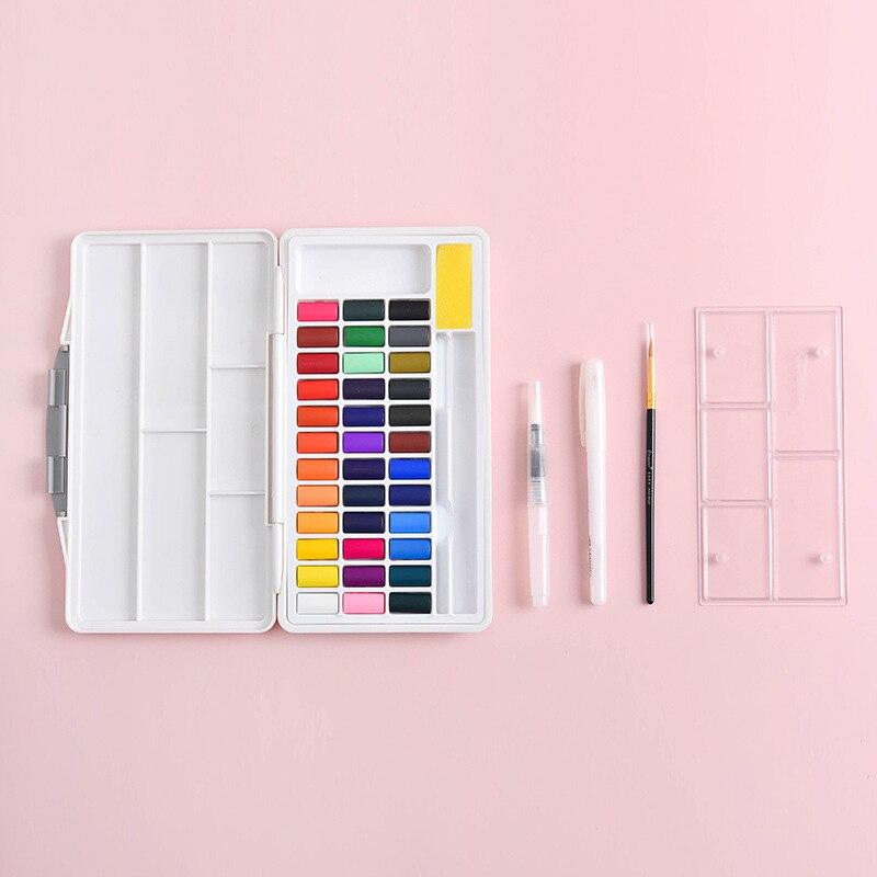 macaron estilo solido aquarela pigmento conjunto 24 04