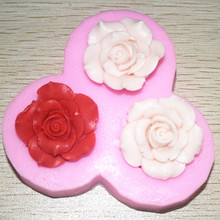 FM265 silicone mould for sugar chocolate lace cake decorative 3d flower Molds