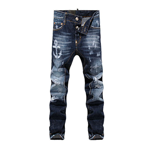 De Hombres Denim Jeans Agujero Moda 2015 Rayado gxIvwFqF