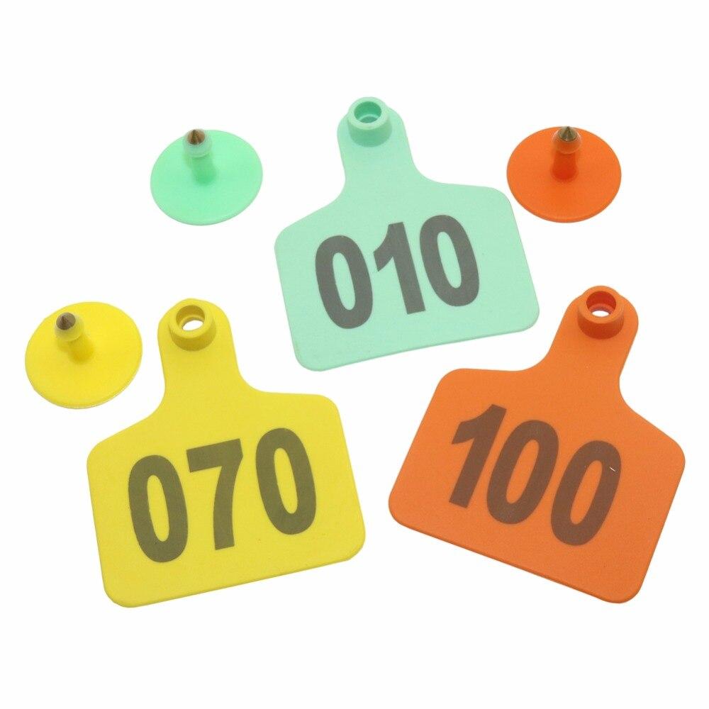 100 pçs de plástico digital numeração NO.1-100