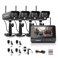 ANNKE 7 TFT LCD DVR 4CH Digital Wireless Monitor 4pcs Wifi Ip Camera CCTV Home Security