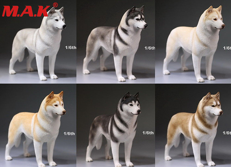 1/6 scale siberian Husky dog model German shepherd with collar anime statue for 12 inches action figure accessories collections цена