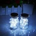 Célula de bateria cr2032 operado fantasia à prova d' água led fio de cobre luzes da lua, 2 m 20 leds firefly fada curto natal decoração tira