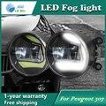 Super White LED Luzes Diurnas Para Peugeot 307 Barra de Luz Drl Estacionamento Luzes de Nevoeiro Carro 12 V DC Cabeça lâmpada