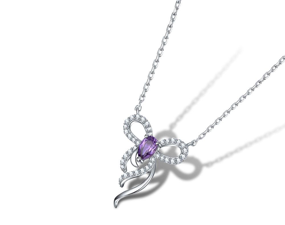 silver amethyst necklaces CAnl00382sa-1 (1)