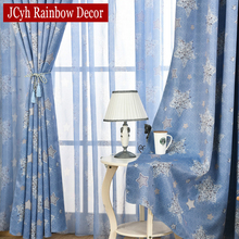 Blue Sky Stars Modern Cartoon Rainbow Blackout Curtains For Bedroom Kids Window Living Room