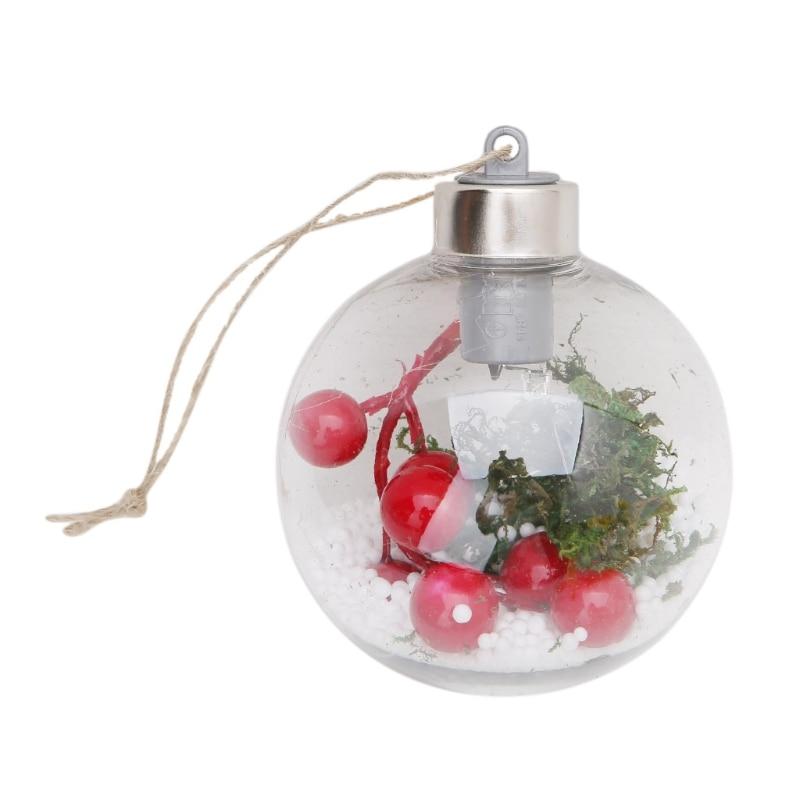 OOTDTY Hot Sell Christmas Tree LED Transparent Ball Light