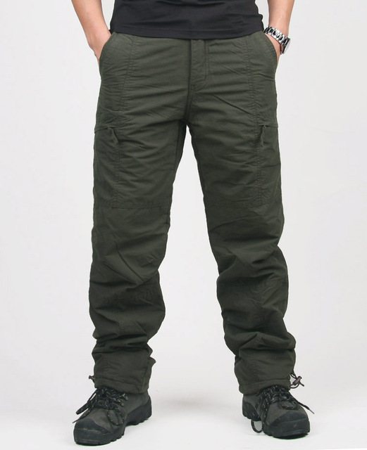 High Quality Warm Thick Pants Double Layer Military Cotton Trousers 1