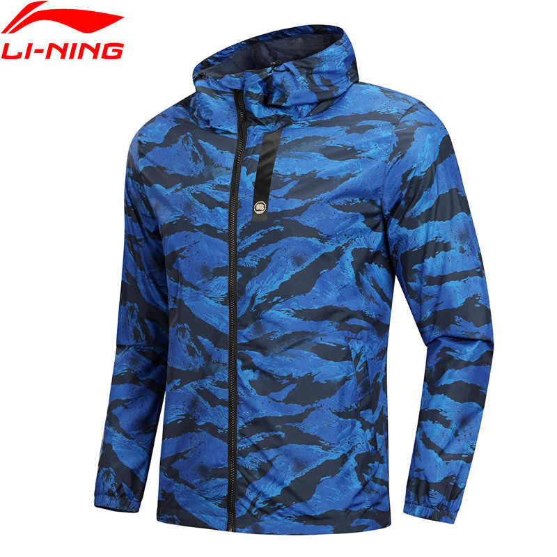 (Clearance)Li-Ning Men BAD FIVE Basketball Windbreaker 100% Polyester Regular Fit LiNing 3D Fitting Sports Coat AFDN151 MWF363
