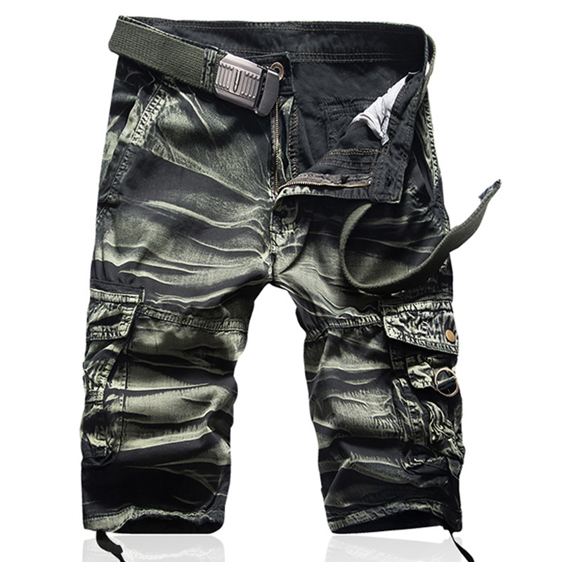 New Camouflage Camo Cargo Shorts Men Mens Casual Beachwear Shorts Male Loose Work Shorts Man Military Short Pants Drop Shipping