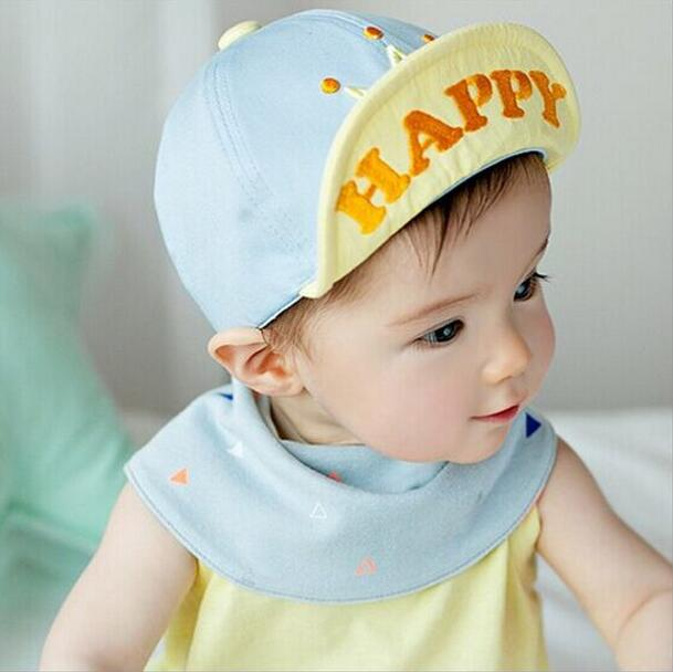 aedb0b3d3cc 1 Piece Cotton Crown Toddlers Infant Sun Cap Summer Outdoor Baby Boys Gilrs Hats  Sun Beach Cute Happy-in Hats   Caps from Mother   Kids on Aliexpress.com ...