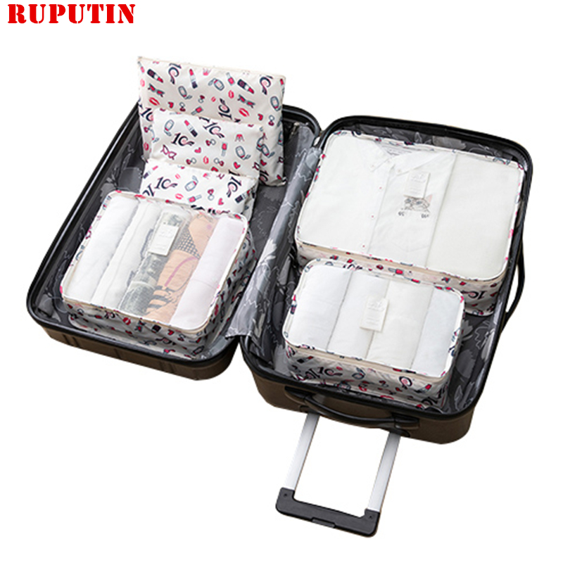 Women's Cosmetic Bag Suitcase Organizer Sets Underwear Clothes Wardrobe Closet Storage Box Luggage Case Travel Accessories Pouch