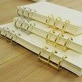 1 peça de prata de ouro loose-leaf Metal Dividir Articulada Anéis Scrapbooking Fichário Planejador Calendário Álbum para Notebook A5A6 Conta