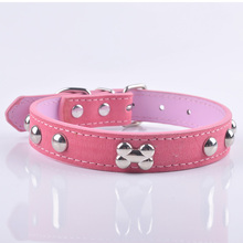 LDC010 Leather Dog Collar Adjustable Buckle Pet Neck Strap For Small Dogs