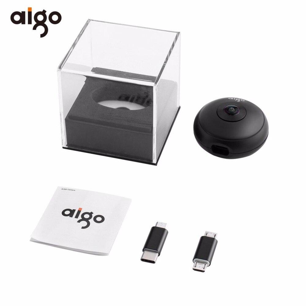 Aigo Mini Ai360 VR Phone Panoramic Camera 720 Degree Video Camera Dual Lens with Dual Adapters