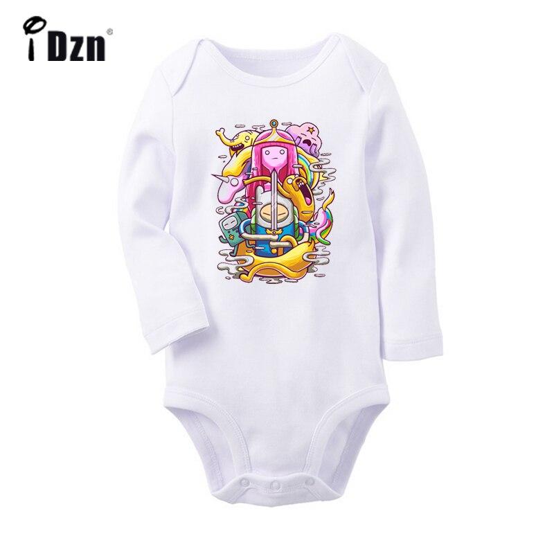 Jake and Finn Adventure Time Newborn Jumpsuit Baby Long Sleeve Romper Bodysuit