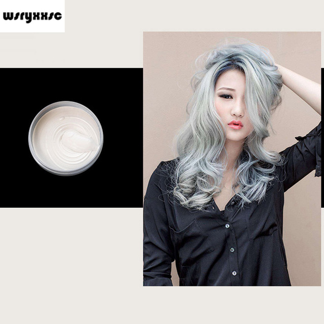Wsryxxsc Unisex Hair Dye Molding Hair Styling Coloring Paste Wax Mud Hair Color Grey