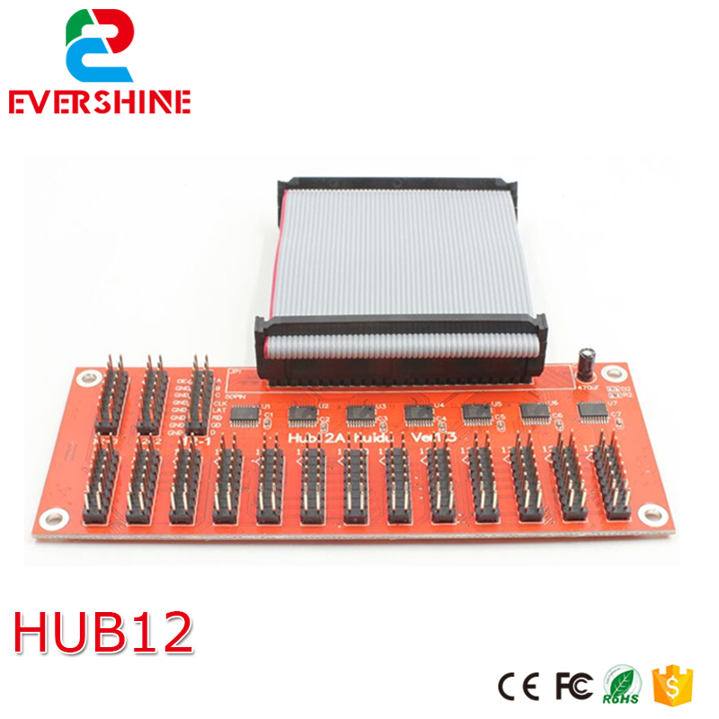 Hub12 for HD-W64, HD-E64, single color P10 LED module, led display sign special use outdoor single red p10 led module 4 pcs 1 pcs controller 1pcs mw power supply p10 led display sign diy kits