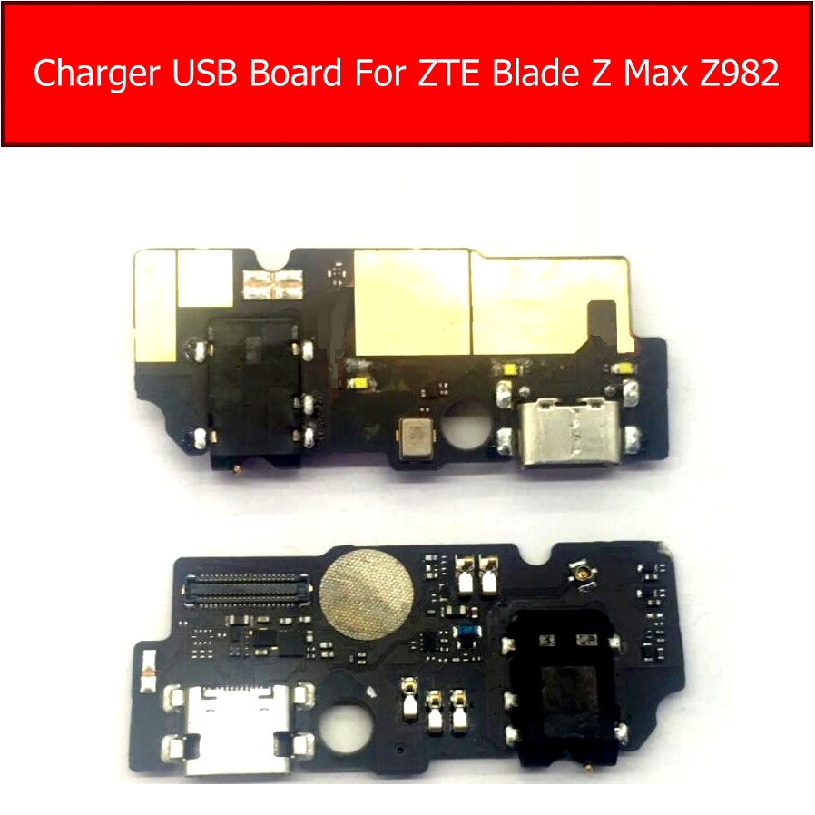 Microphone & Audio Jack port & USB Charger Board For ZTE Blade Z Max Z982 Charging usb Jack Socket Module Connector replacement
