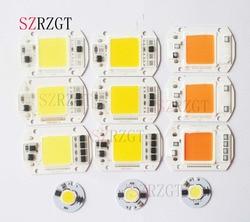 LED COB Chip 110V 220V 9W 10W 20W 30W 50W  LED Bulb Lamp Input Smart IC Flood Light Spotlight