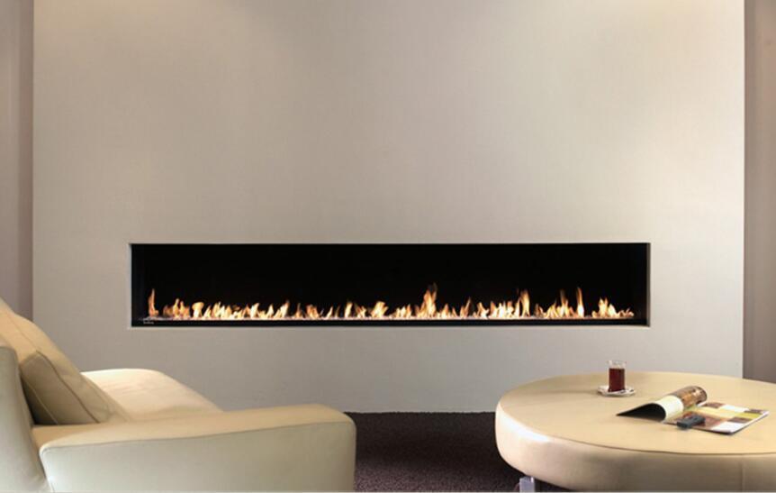 48 Inch Silver Or Black Wifi Intelligent Bio Ethanol Fireplace Indoor Wall