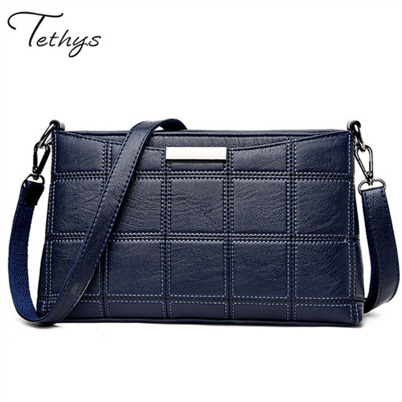 Tethys 2017 Fashion Women Genuine Leather Handbags sheepskin Messenger bags fema