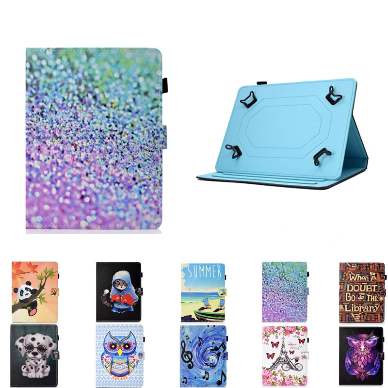 PU Leather Case For Huawei MediaPad T1 T2 T3 10.0 pro / M2 M3 M5 Lite 10 / M5 10.8 inch T5 C5 10.1 inch Tablet Universal Cover image
