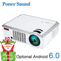 Poner Saund LED 3302 HD Android Projector WiFi Bluetooth 3500 Lumens Support Full HD 1080P HDMI Beamer 3D Home Cinema Proyector