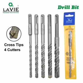 5pcs Electric Hammer SDS Plus Drill Bit Set Cross Tips 4 Cutters 160mm for Concrete Wall Brick Block Masonry Drilling Bits 6mm
