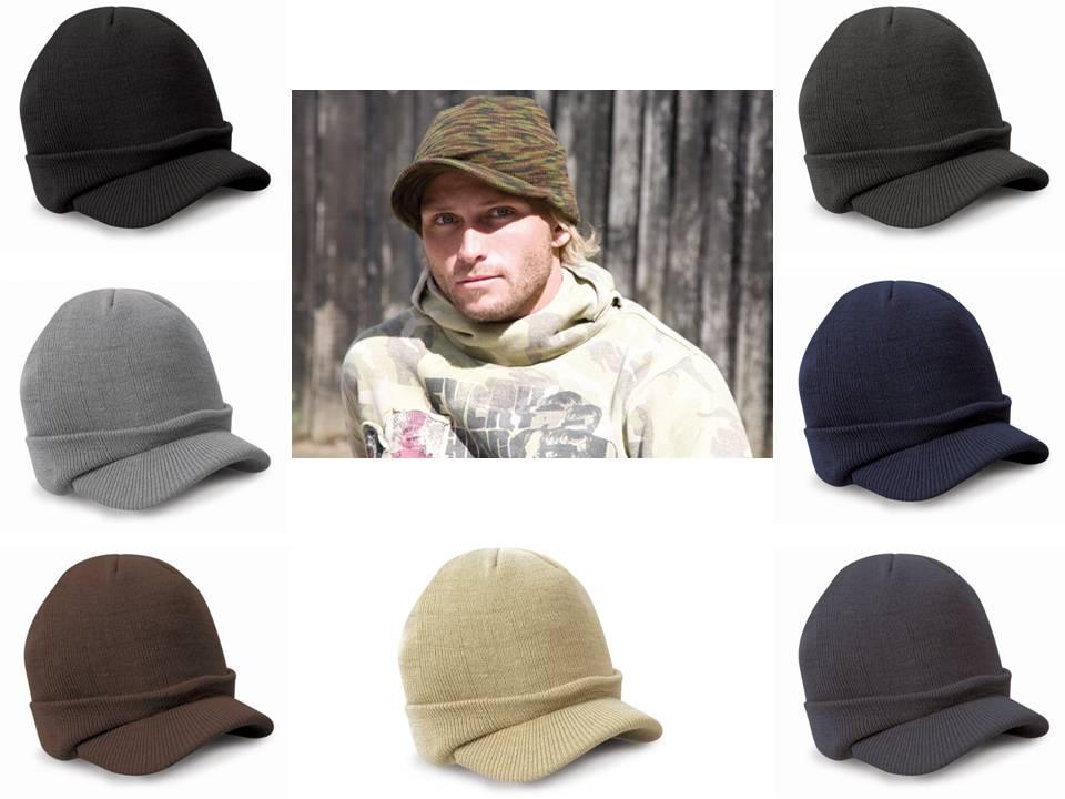 Gaya busana Tentara Topi Laki-laki Topi Musim Dingin Dengan Visor - Aksesori pakaian - Foto 2